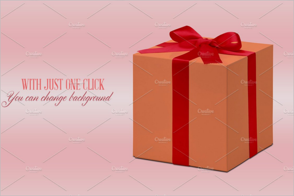 Photorealistic Gift Box Mockup Design