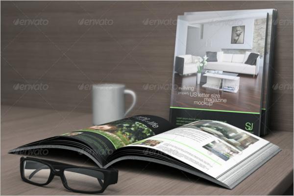 Photorealistic Letter Magazine Mockup Design