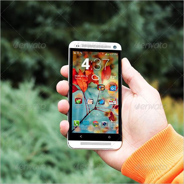 Photorealistic Mobile App Mockup Design