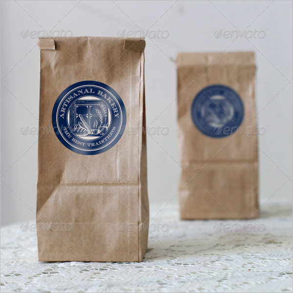Photorealistic Paper Bag Mockup Design