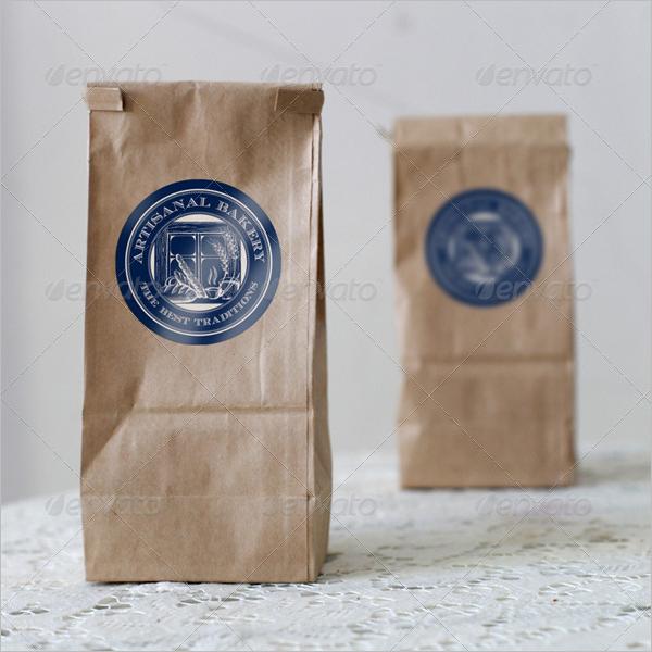 Photorealistic Paper Bag Mockup Design