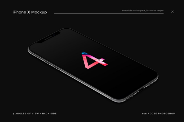 Photorealistic iPhone X Mockup Design