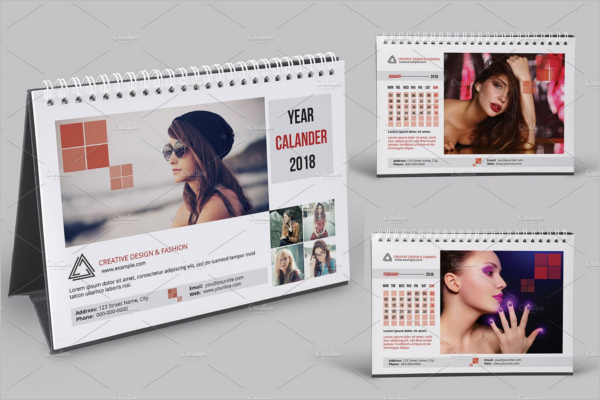 Photoshop Desk Calendar Mockup Template
