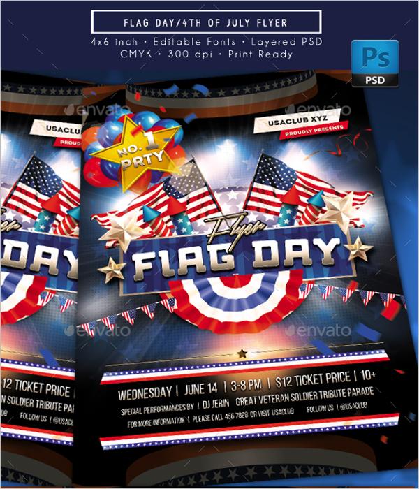 Photoshop Flag Flyer Template