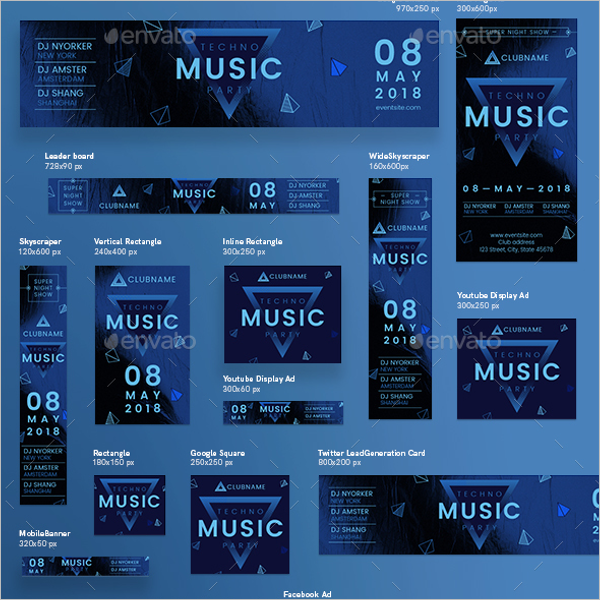 Photoshop Music Banner Template