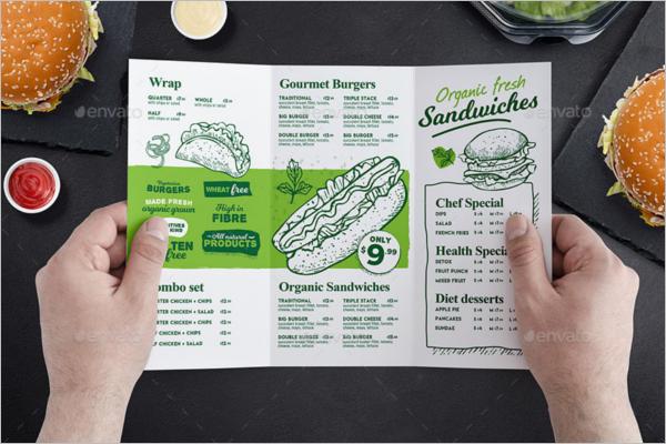photoshop tri fold menu template