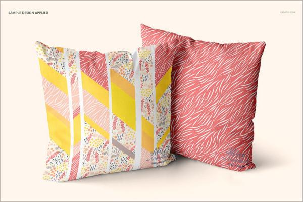 Pillow Mockup Design Template