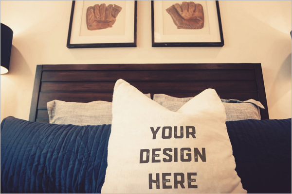 Pillow Mockup Download Design