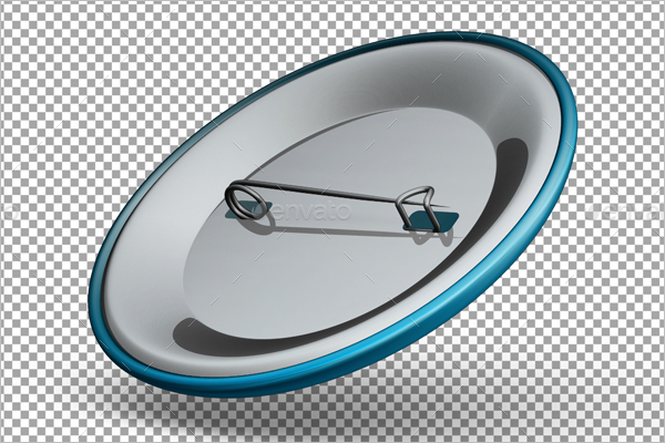 Pin Button Badge Mockup Design