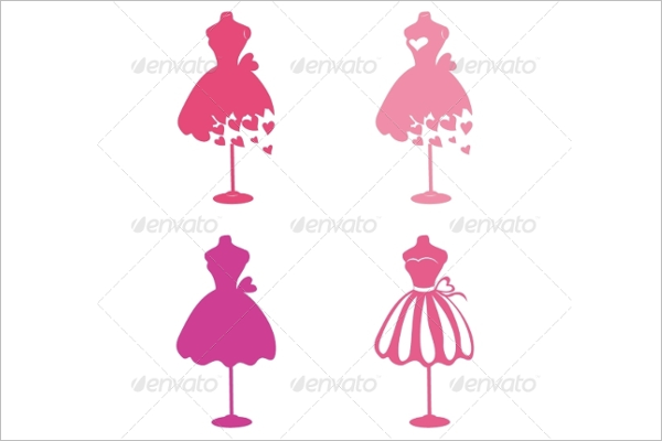 Pink Dress Design Template