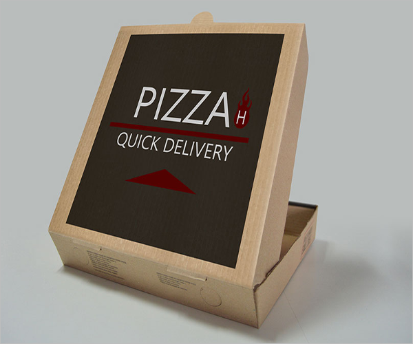 Pizza Box Mockup Elegant Design