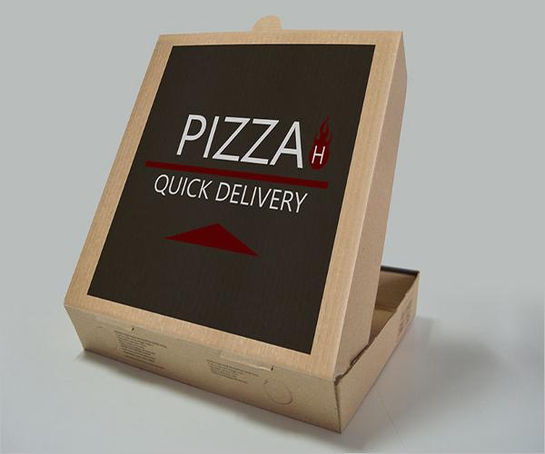 Pizza Box Mockup Elegant Design