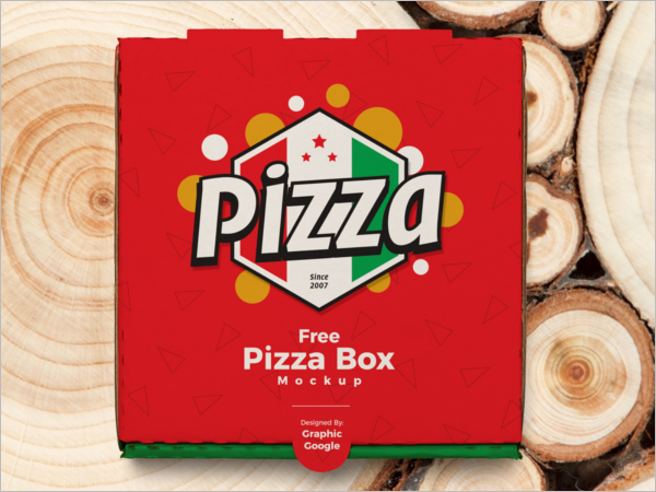 Pizza Box Mockup Free Vector