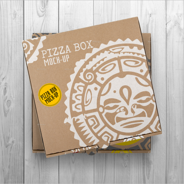 Old Pizza Box Mockup Design