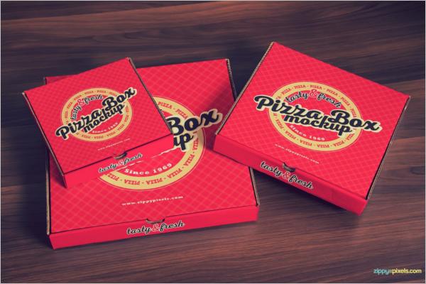 Pizza Box Mockup PSD