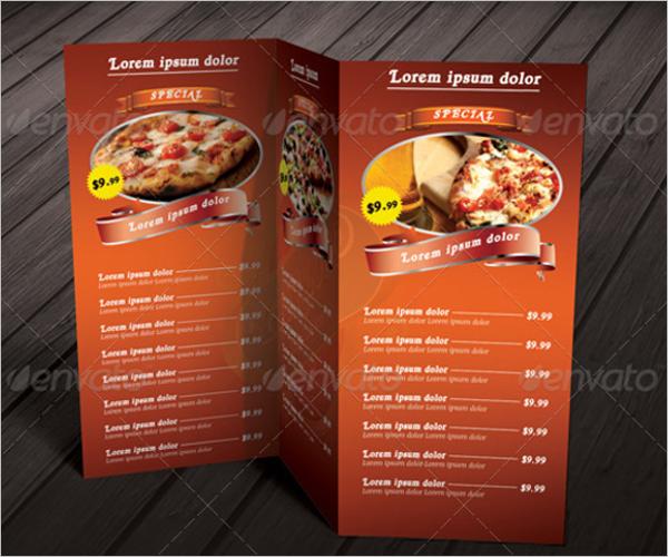 Pizza Menu Card Template