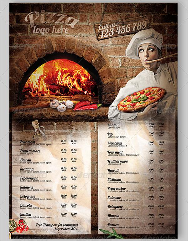 Pizza Restaurant Flyer Design