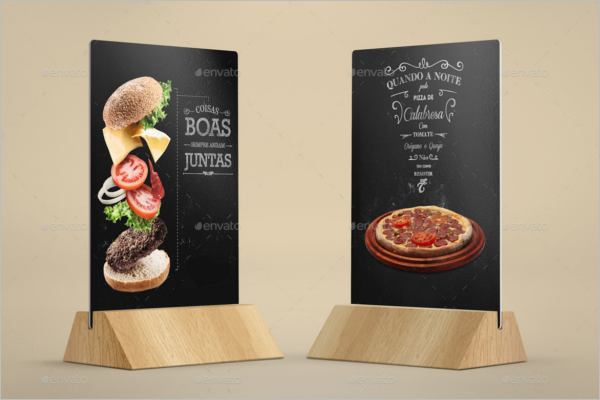 Pizza Table Tent Card Mockup Template