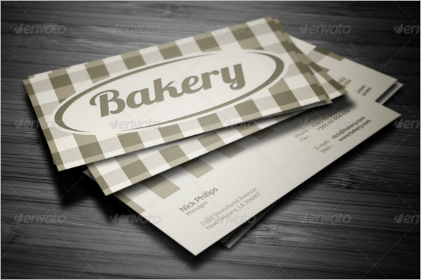 Plane Bakery Business Card Design