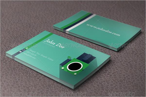 Plane Business Card Vector Design
