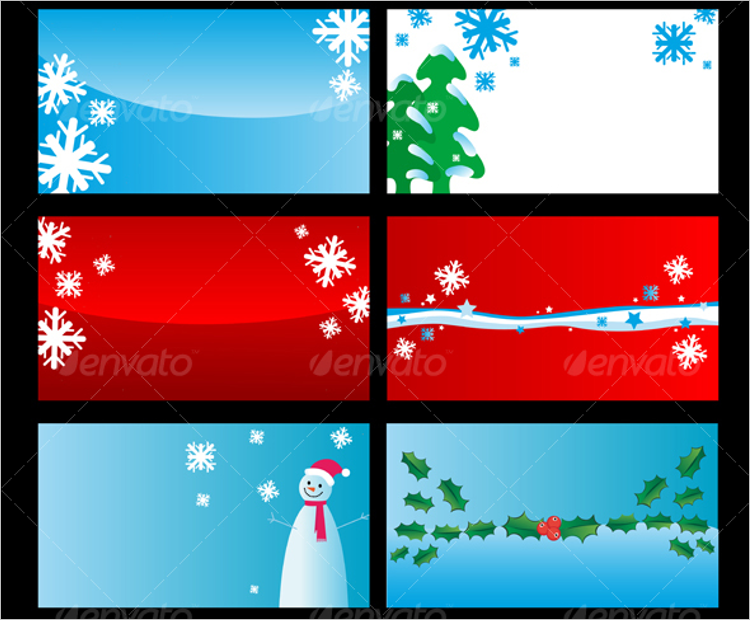 Plane Christmas Business Card Design