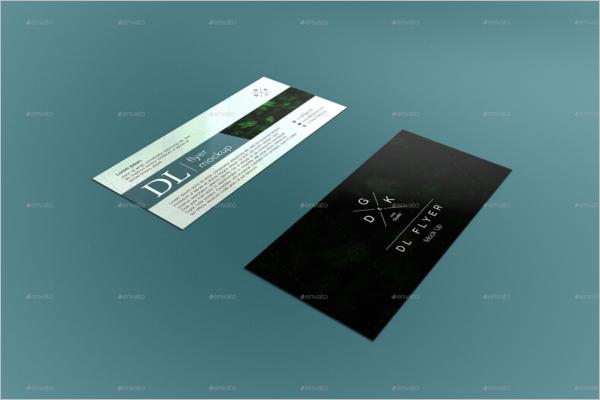 Plane Leaflet Brochure Mockup Design