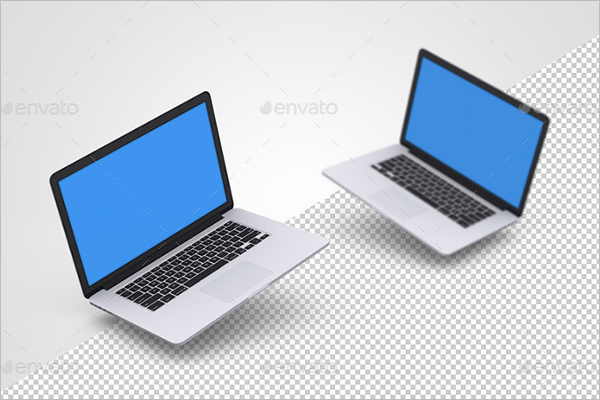 Plane Macbook Mockup Design