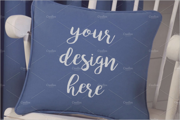 Plane Pillow Mockup Design