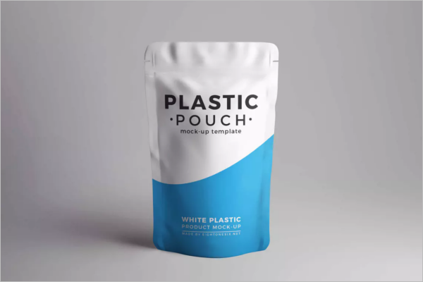 Plastic Pouch Product Mockup Design