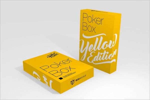 Playing Card Box Mockup Design