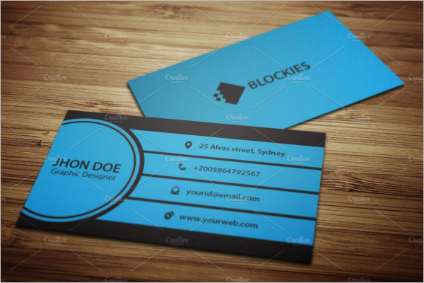Police Left Business Card Template
