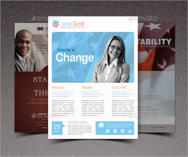 Political Race Flyer Template Bundle