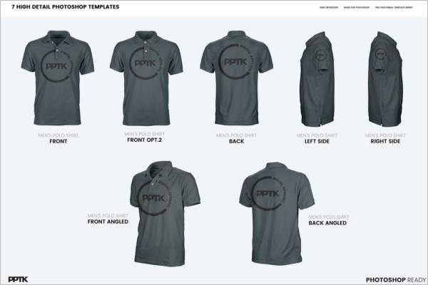 Polo T-Shirt Mockup Template