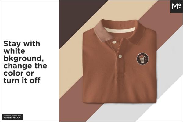 Polo t-Shirt Mockup Clean Design