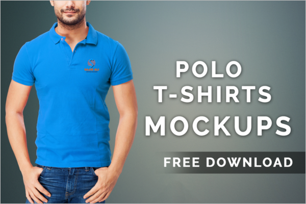 Polo t-Shirt Mockup Free Download