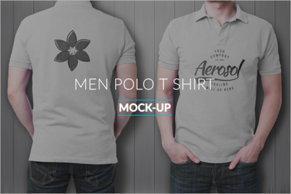 Polo t-Shirt Mockup Free Vector