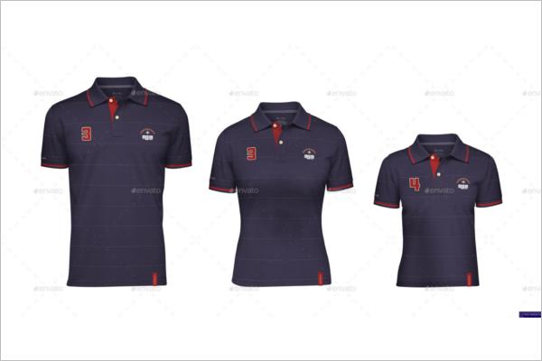 Polo t-shirt Mockup Classic Design
