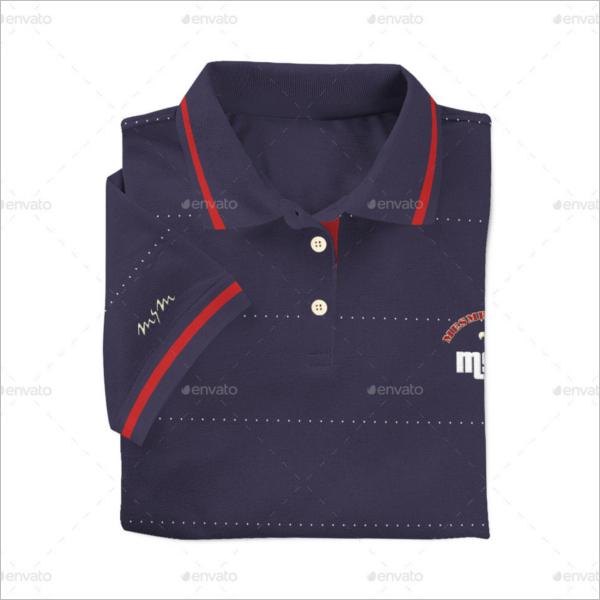 Polo t-shirt Mockup Model Design