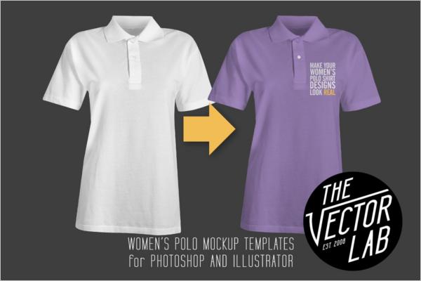 Polo t-shirt Mockup PSD