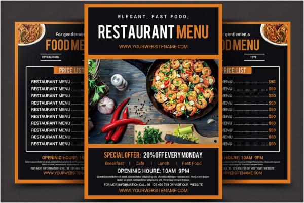 PopularRestaurant Food Menu Design