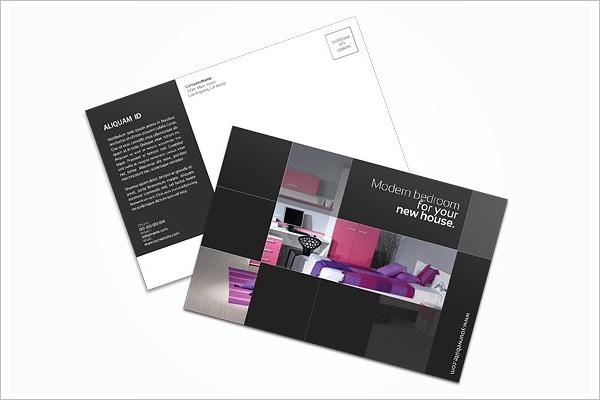 Postcard Interior Design Template