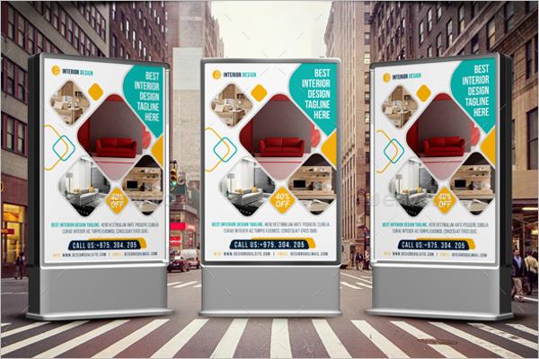 Poster Design Interior Template