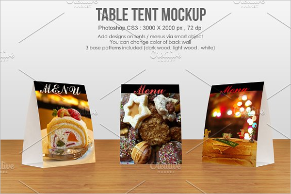 Premium Table Tent Card Mockup Template