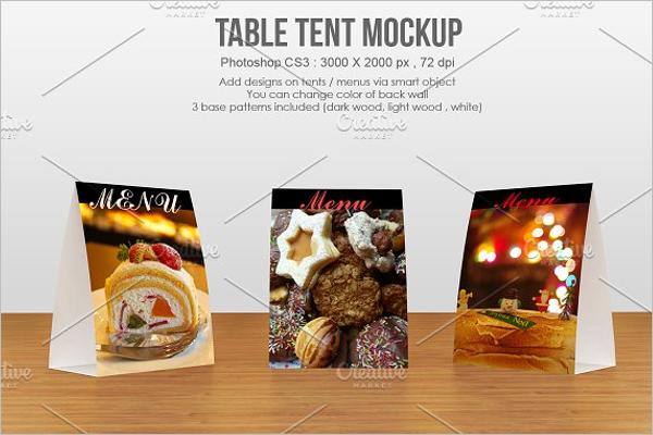 Premium Table Tent Card Mockup Template
