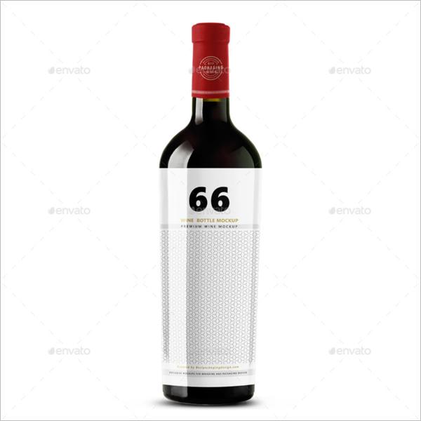 Premium Wine Bottle Mockup