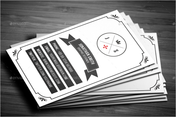 Print Ready Vintage Business Card Template