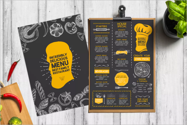 Printable A4 Menu Template
