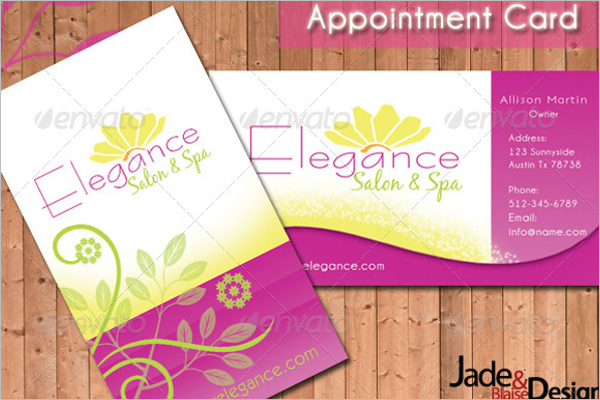 Printable Appointment Card Template