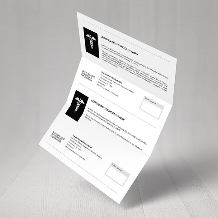 PrintableDoctors Note Template