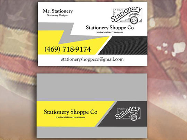 Printable Electrician Business Card Template